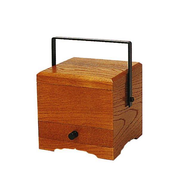 【日本製】角型手堤香炉[栓][オトシ蓋付]幅4寸(12cm)×奥行12cm×高さ12cm