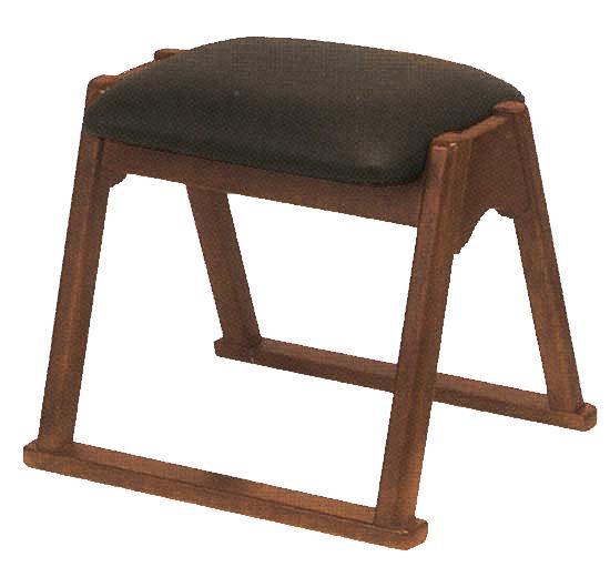 【寺用・寺院用/在家用/和室設備】本堂椅子 TRシリーズ(畳に使える和室/お座敷用チェア)幅42cm×奥行36cm×座面高(座高)35cm[木製] 背もたれなし
