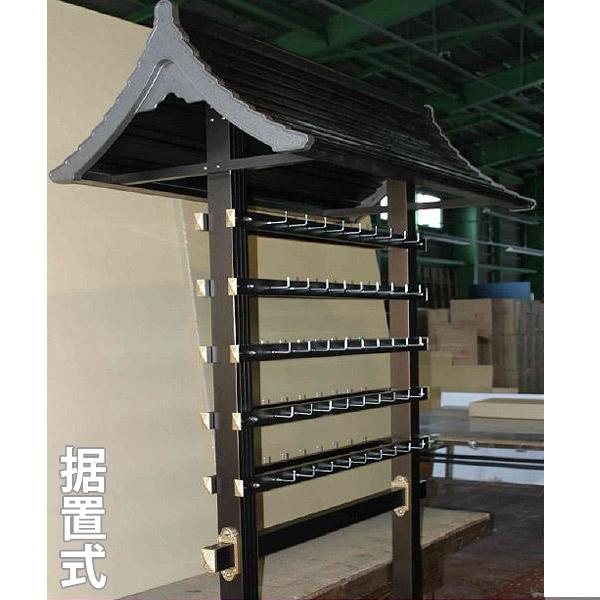 アルミ製 絵馬掛 大和型 据置式(6本足台座)※両面で90個の絵馬がかけられます