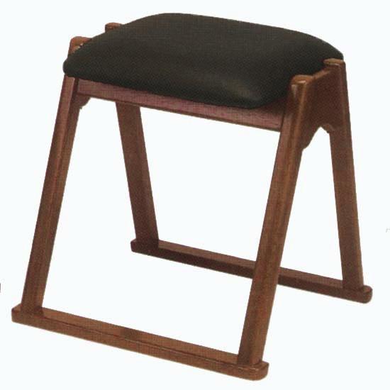 【寺用・寺院用/在家用/和室設備】本堂椅子 TRシリーズ(畳に使える和室/お座敷用チェア)幅42cm×奥行40.5cm×座面高(座高)42cm[木製]背もたれなし