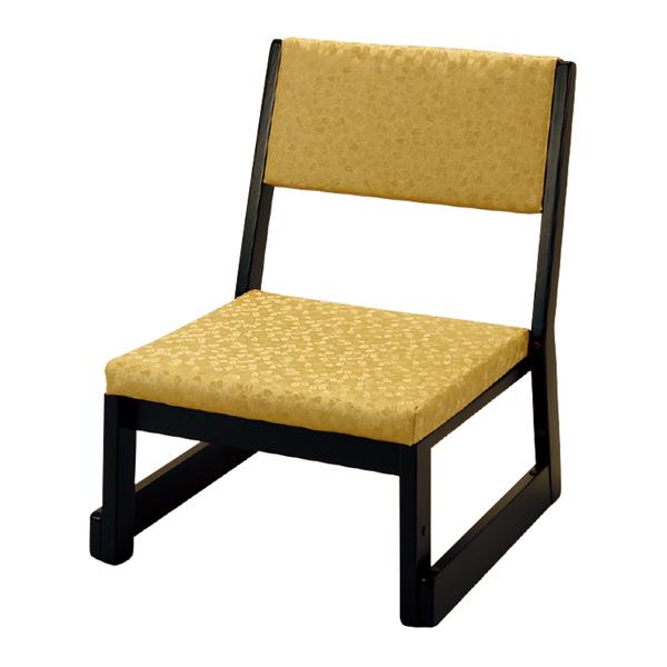 【寺用・寺院用/在家用/和室設備】本堂椅子 Rシリーズ(畳に使える和室/お座敷用チェア)幅47cm×奥行48cm×高さ60cm(座面高(座高)26cm)[木製]背もたれ付き