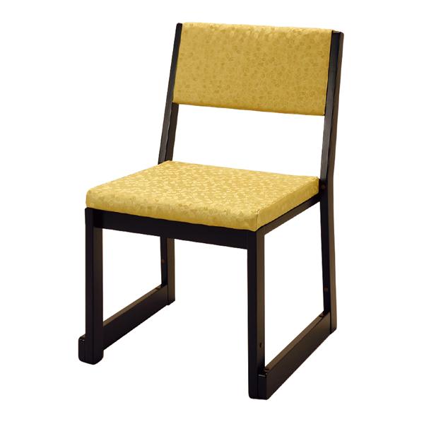 【寺用・寺院用/在家用/和室設備】本堂椅子 Rシリーズ(畳に使える和室/お座敷用チェア)幅47cm×奥行48cm×高さ71cm(座高35cm)[木製] 背もたれ付き