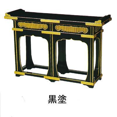 【送料無料】立焼香机 [黒塗/朱塗 面金箔押・金具付] 3尺