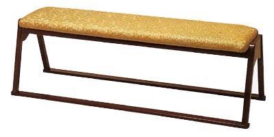 【送料無料】【寺用・寺院用/和室設備】三人用椅子幅136.5cm×奥行43cm×座面高(座高)42cm【木製】背もたれなし【製造元より直送/代引不可】長椅子/長イス/長いす/ベンチ