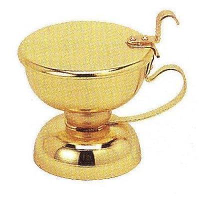 【蝋燭用品】芯切つぼ(しんきりつぼ) 真鍮製本金メッキ芯切壷 芯切壺 和ローソク 和ろうそく 和蝋燭 仏具