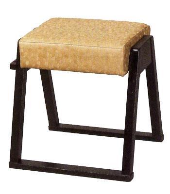 【社寺用/葬祭施設用/和室設備】連結式 本堂椅子(畳の上で使える椅子)幅51cm×奥行40cm×座面高44cm[木製] 背もたれなし【配送区分:h】宅配便のみ・一部地域除き||送料無料||