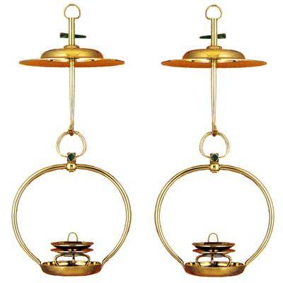 【送料無料】輪灯 真鍮製磨き仕上 特製 1尺