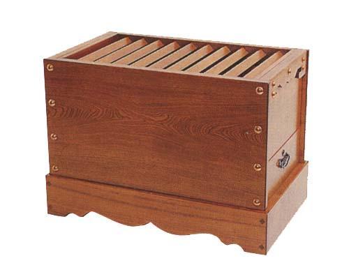 【送料無料】木製 賽銭箱 箱型栓製(せん/セン) 3尺