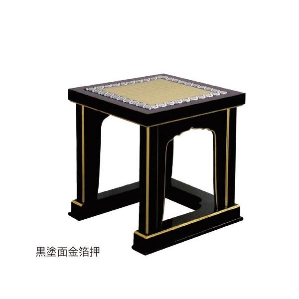 【送料無料】中京型 背高経机用椅子 [黒塗/朱塗 面金箔押]【製造元より直送/代引不可】