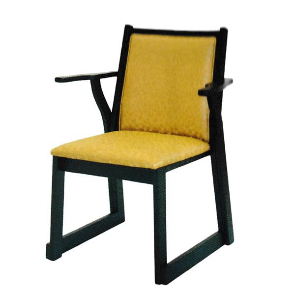 【社寺用/在家用/和室設備】本堂椅子 両肘付レザー椅子(畳の上で使える椅子)幅60cm×奥行55cm×高さ79cm(座面高42cm)[木製] 背もたれ・肘掛け付き本堂用椅子/アームチェア【配送区分:h】宅配便のみ・一部地域除き||送料無料||