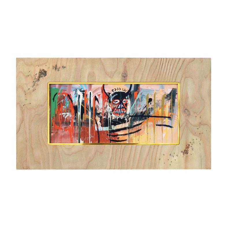 正規複製ポスター使用 バスキア 無題 デビル 縦320x横560mm 創作額縁 Jean-Michel アンティーク お見舞い オリジナル額縁 Devil Basquiat Untitled ストリートアーティスト 売買 アートフレーム