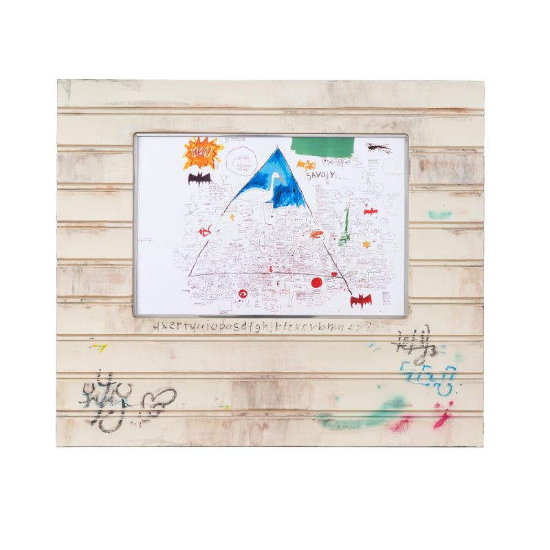正規複製ポスター使用 バスキア 無題 1986 縦486x横566mm 高品質 創作額縁 Jean-Michel アンティーク オリジナル額縁 国内送料無料 アートフレーム Basquiat ストリートアーティスト Untitled
