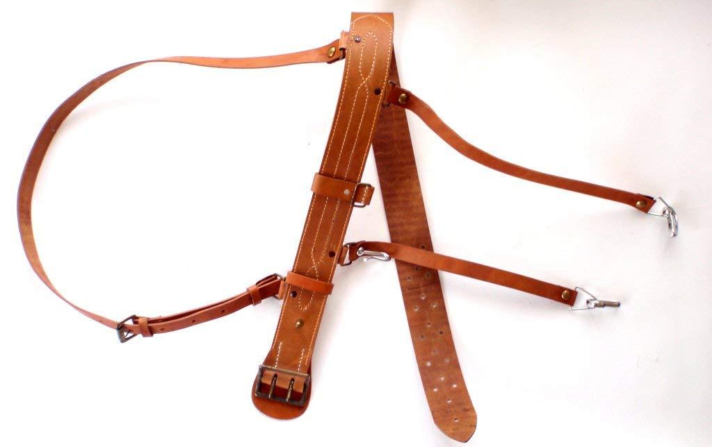 日本海軍 本革製 略刀帯 将校 下士官用 複製品 サバゲー 日本軍 ベルト 帯革