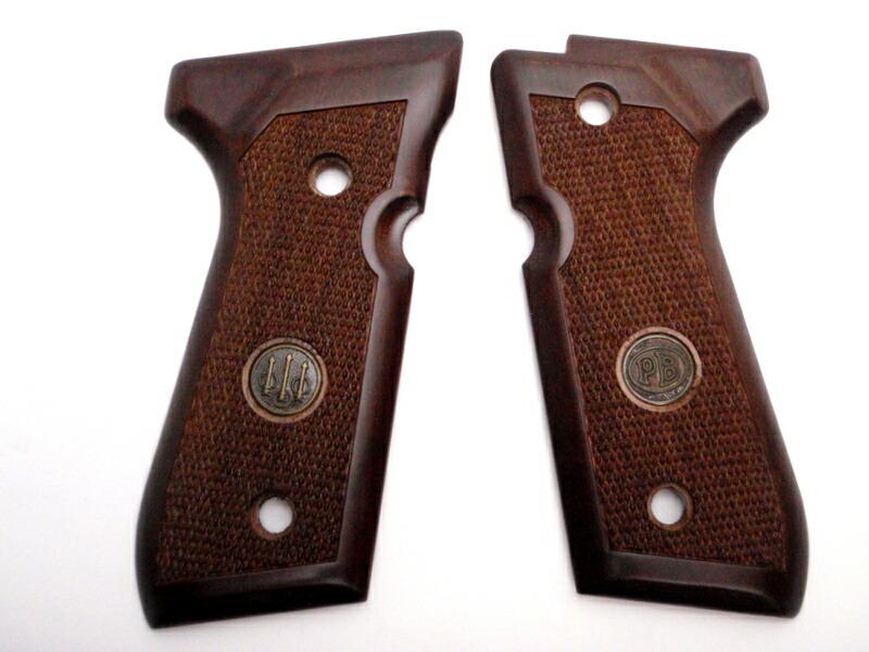 ベレッタ M92F M9 純正 木製グリップ メダリオン 実物