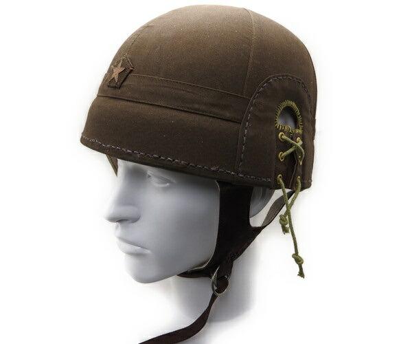 【エントリー全会員P10倍】 日本陸軍 戦車兵 夏用戦車帽 ヘルメット 鉄兜 複製品 サバゲー
