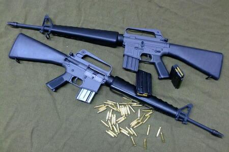 顶尖 M16 退潮 AR15 越南早期模型吹风气枪