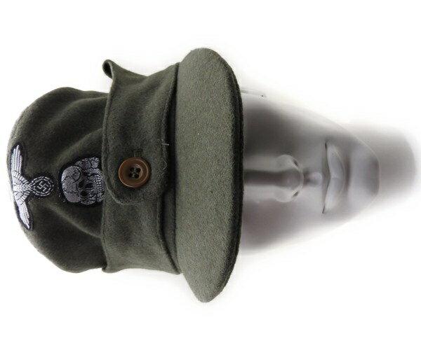 ドイツ軍 Waffen SS キャップ 略帽 外側ウール100% サバゲー レプリカ