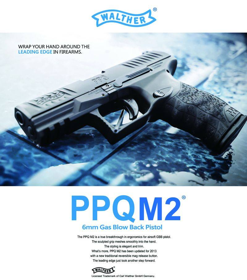 ウマレックス Umarex ワルサー PPQ M2 ブローバック ガスガン サバゲー 銃 ハンドガン【18歳以上用】
