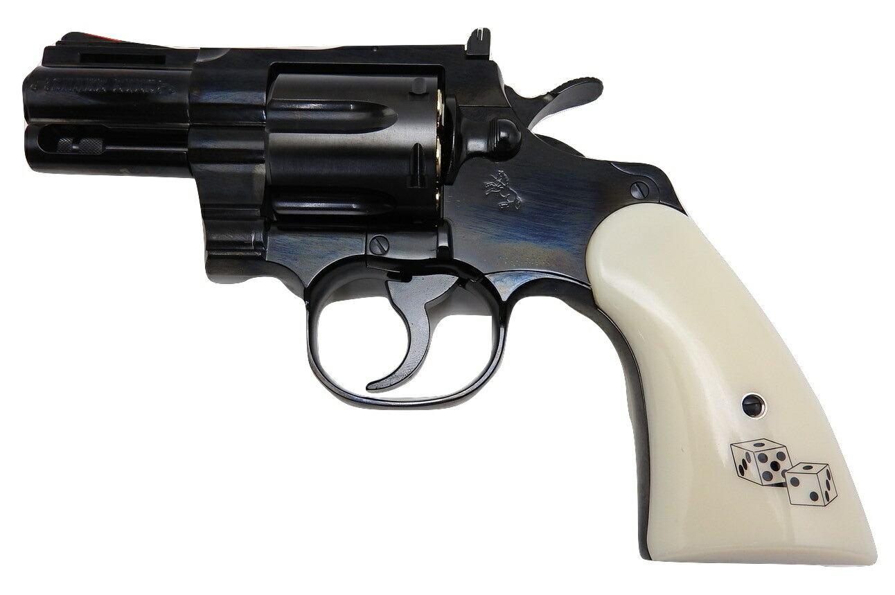 タナカ コルト パイソン スネークアイズ 2.5inch R-model スチール フィニッシュ ガスガン