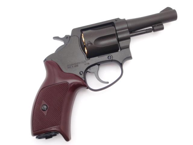 マルシン ポリスリボルバー ブラック ABS 3インチ ガスガン Xカートリッジ 18歳以上用 銃 警官 18歳以上 新品