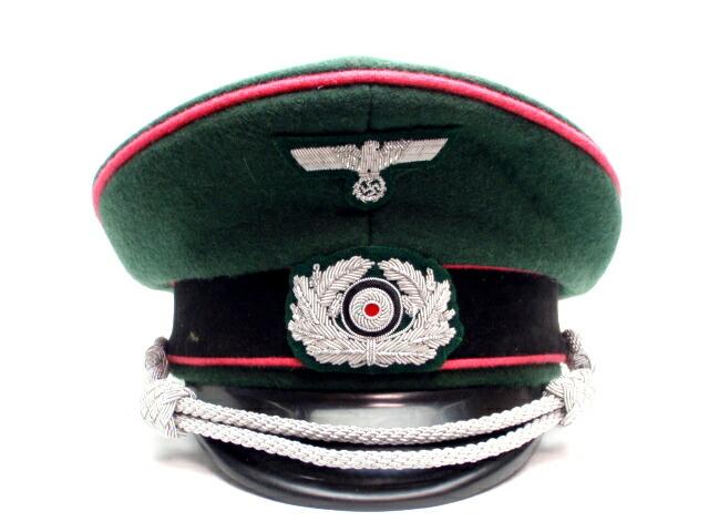 ドイツ軍 国防軍機甲部隊 戦車兵 鍔付き制帽 外側ウール100% Panzer パンツァーリプロダクション