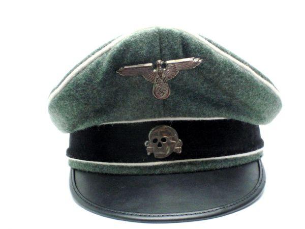 ドイツ軍 Waffen SS クラッシュキャップ 制帽 外側ウール100% リプロ サバゲー
