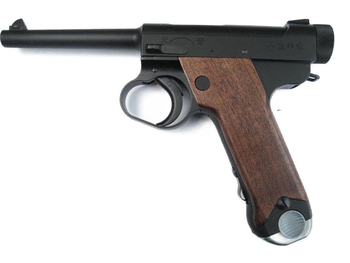 クラフトアップルワークス CAW・MULE モデルガン 日本軍 南部 14年式拳銃 十四年式拳銃 末期型 ダミーカート式 HW 木製グリップ付 (540087)
