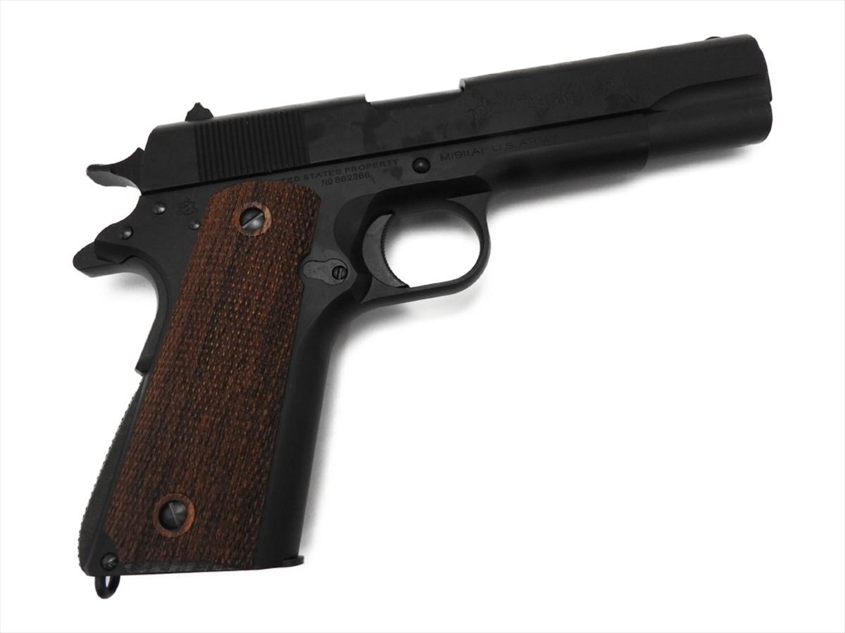【エントリー全会員P10倍】 CAW コルト GM7.5 M1911A1 コマーシャル ミリタリー ブラック 発火式 モデルガン ブローバック 銃