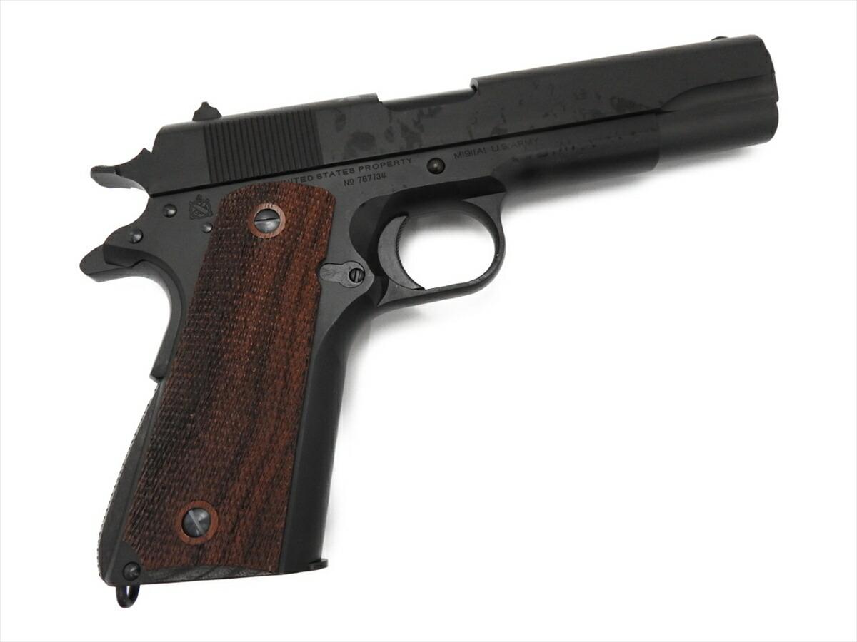 【エントリー全会員P10倍】 CAW コルト GM7.5 M1911A1 ガバメント ブラック オート M1911 発火式 モデルガン ブローバック 銃