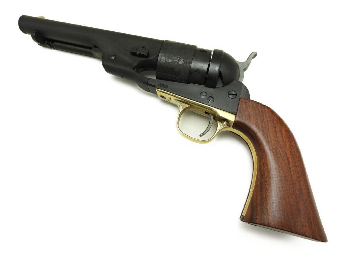 実銃と同じく真鍮製トリガーガードが目を引く HWS ハートフォード M1860 アーミー 安心の実績 高価 買取 強化中 リチャーズ コンバージョンモデル メーカー公式 銃 古式銃 5.5インチ 発火 HW モデルガン