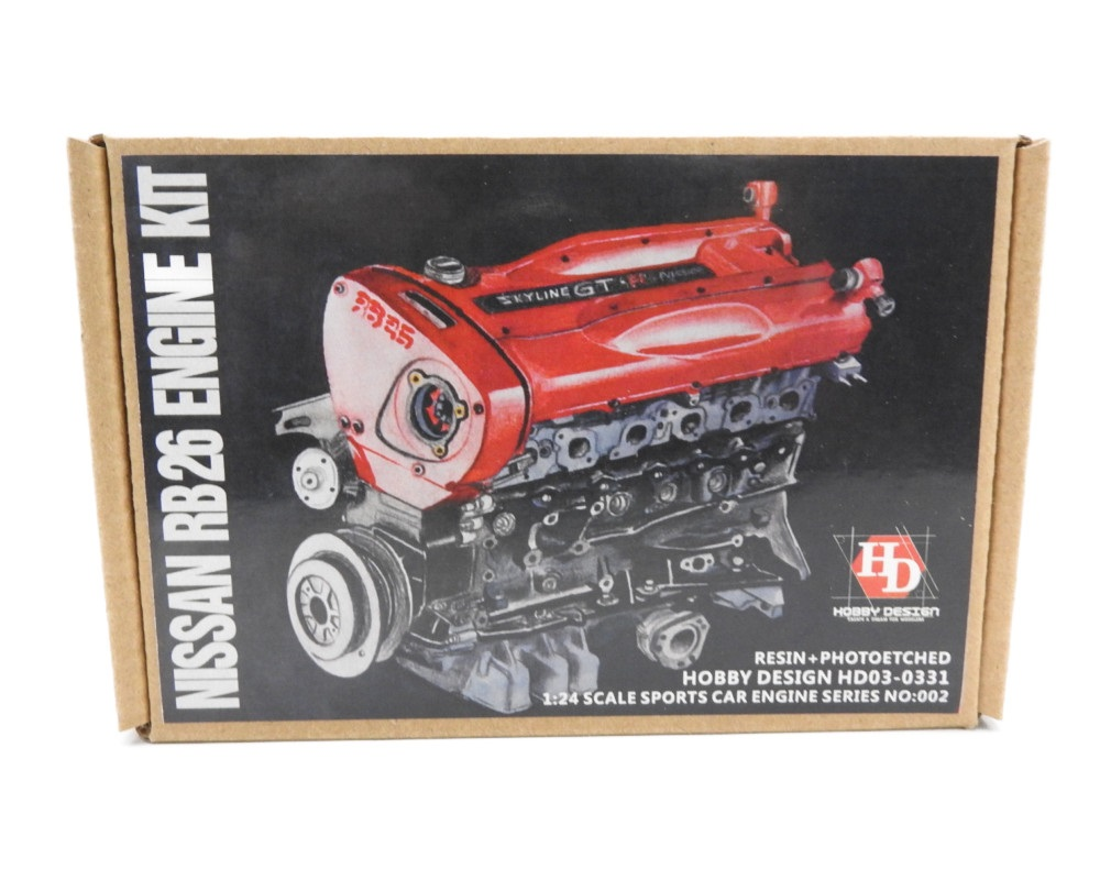 1/24 ニッサン GT-R RB26 ターボ エンジンセット レジン エッチングパーツ Hobby Design HD03-0311