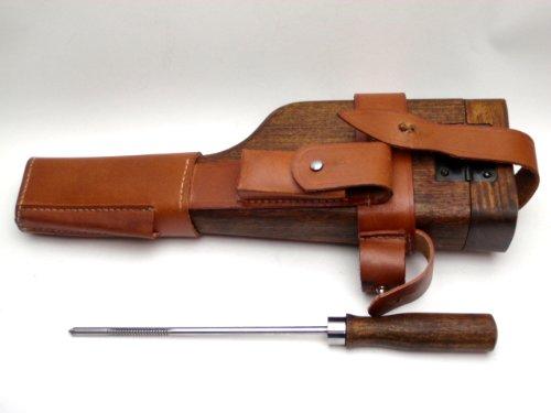 ドイツ軍 モーゼル M712 本革製 ホルスター C96 木製ストック クリーニングロッド付