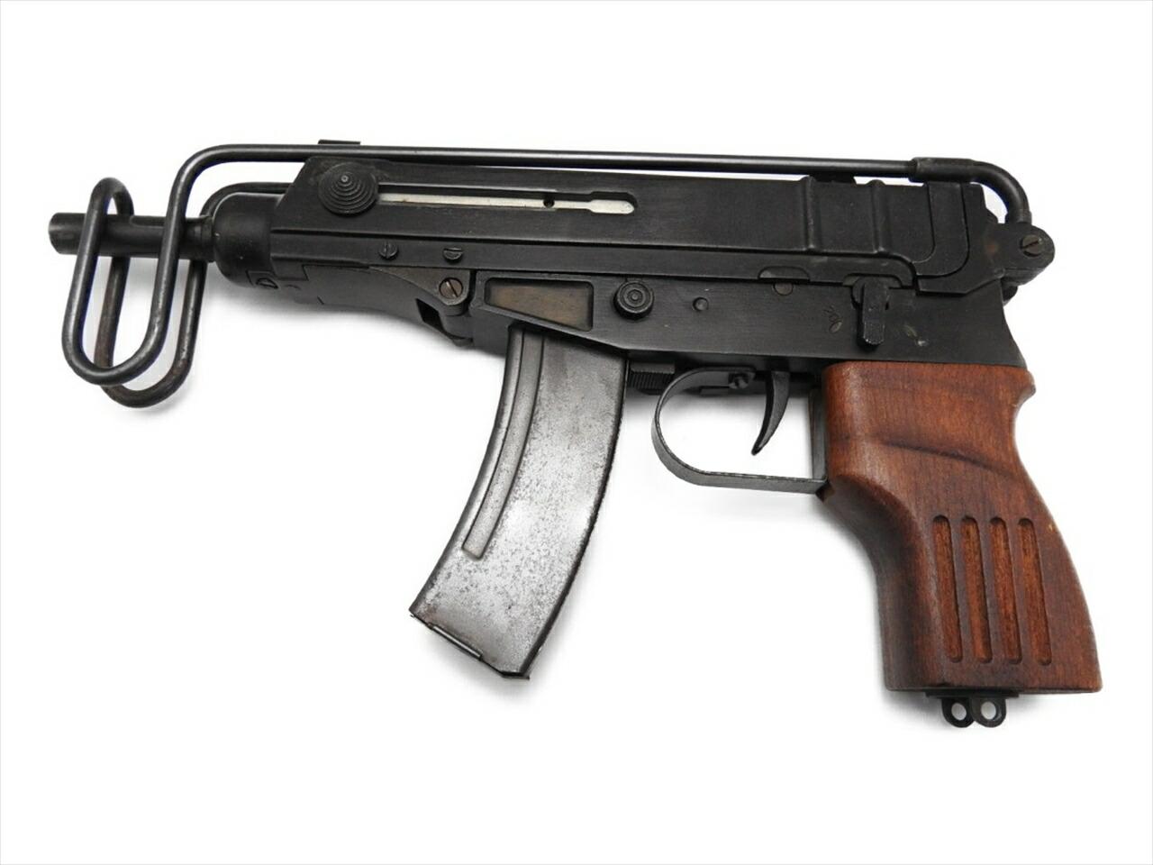中古 モデルガン VZ61 絶版品 スコーピオン 未発火 ハドソン 木製グリップ付 金属製 美品