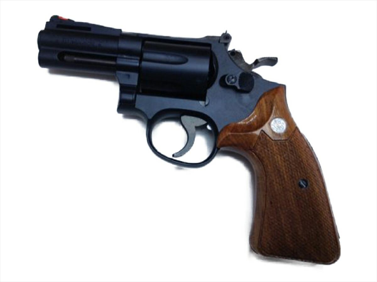 【エントリー全会員P10倍】 HWS ハートフォード スマイソン 3インチ HW 発火 モデルガン オーバーサイズ 木製グリップ付 357マグナム