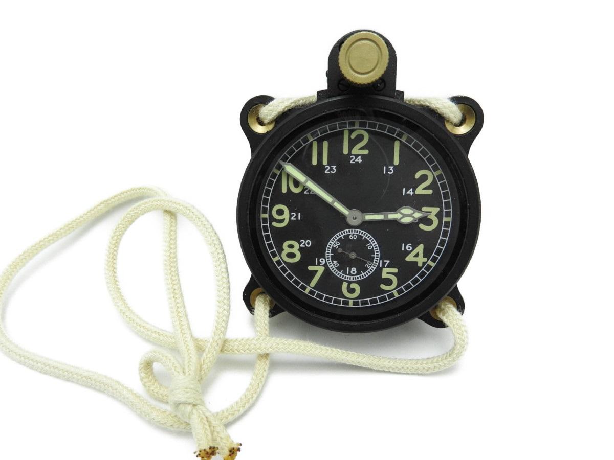 【中古品】中田商店 大日本帝国 日本海軍 航空隊 零戦 一式 計器時計 一式時計 手巻式 複製 レプリカ デッドストック 美品