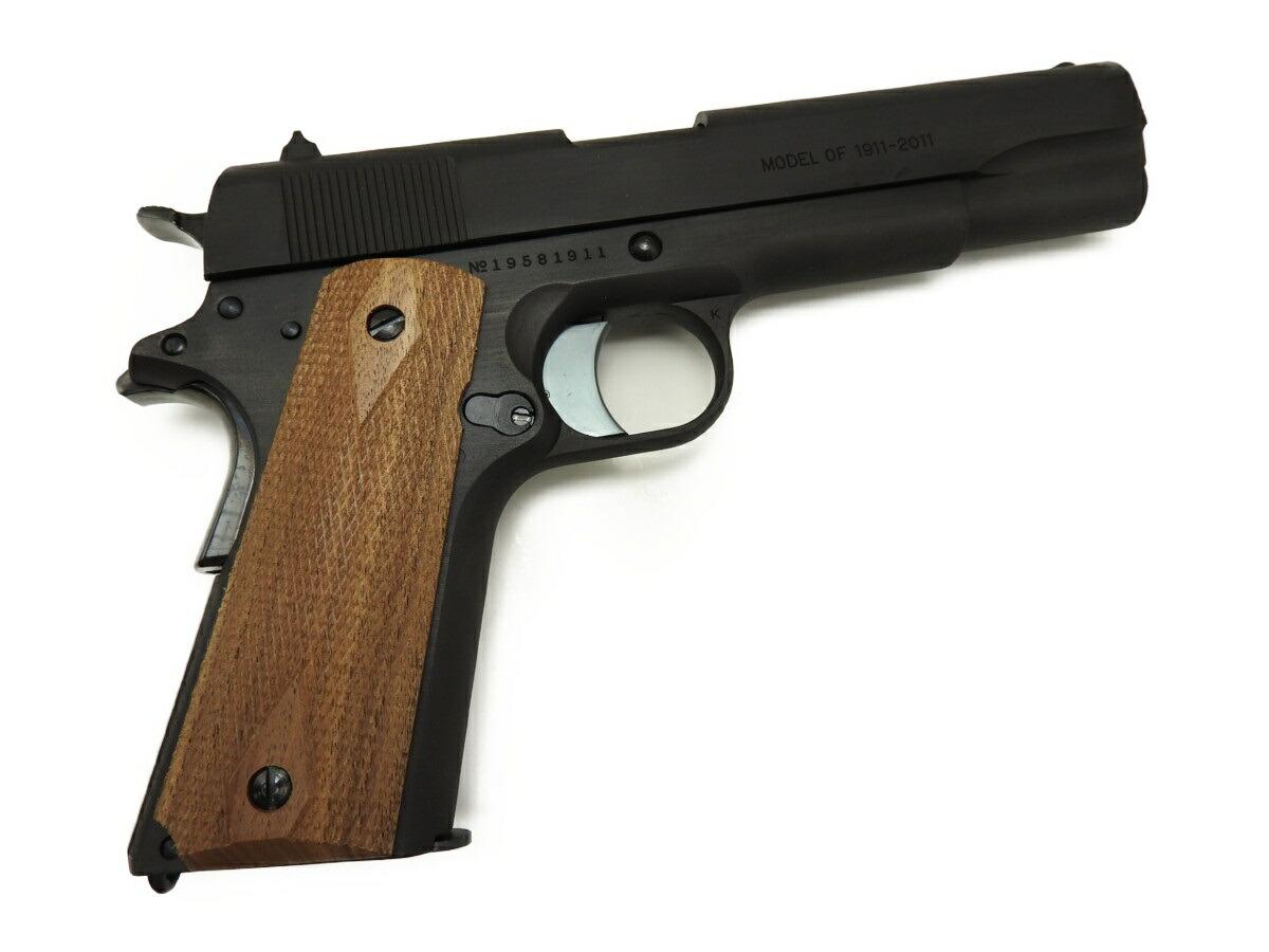 【エントリー全会員P10倍】 マルシン コルト Colt ガバメント M1911A1 100周年記念モデル HW ダミーカート モデルガン 木製グリップ 銃