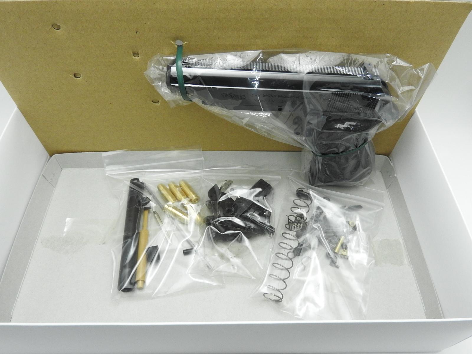 マルシン ワルサー PP Wディープブラック ABS 発火モデルガン ブローバック 組立キット 銃 ハンドガン