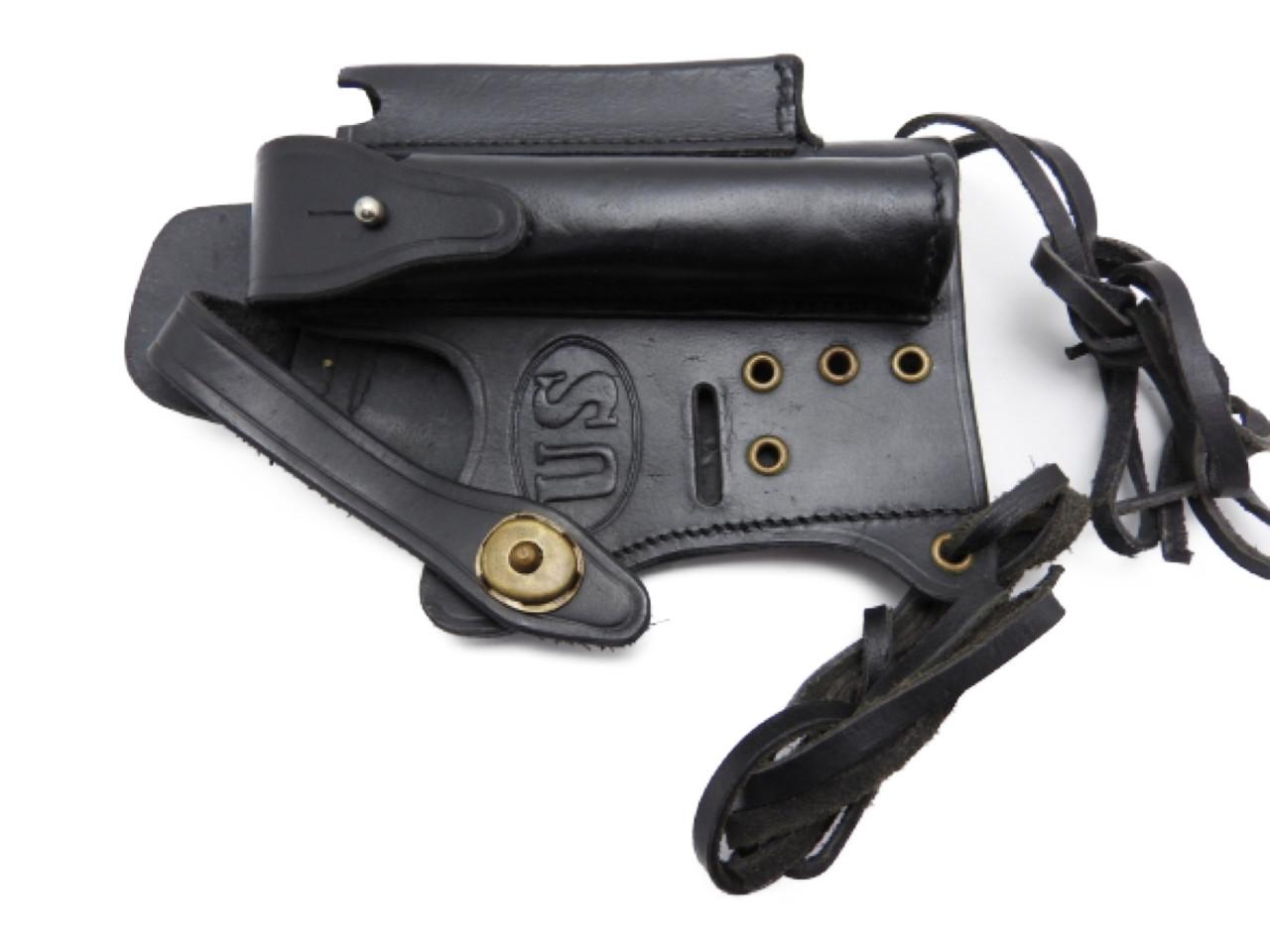 ワルサー P99 P22 ホルスター ブラック 本革製 マガジン サイレンサー入付 ガスガン エアガン モデルガン