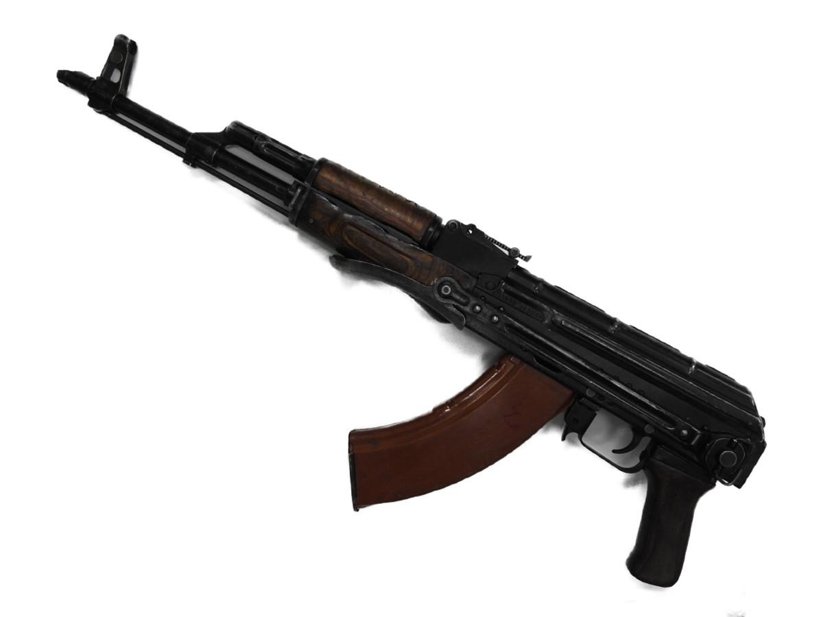 【中古品】 無可動実銃 無可動銃 AKMS AK47 ソビエト軍 ロシア イズマッシュ造兵廠 ボルトオープン溶接 カラシニコフ フラッシュハイダー2種類付