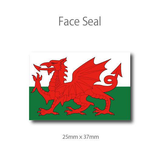 ウェールズの旗 100枚  フェイスペイントシール <医療テープタイプ>