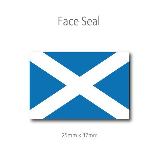 スコットランドの旗  100枚 フェイスペイントシール <医療テープタイプ>