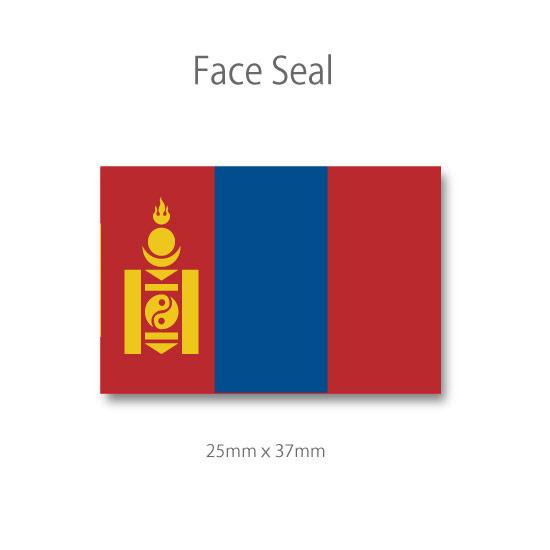 スポーツ観戦やフェス イベントに マスクシールにも フェイスペイントシール 超定番 モンゴルの旗 医療テープタイプ 高品質新品