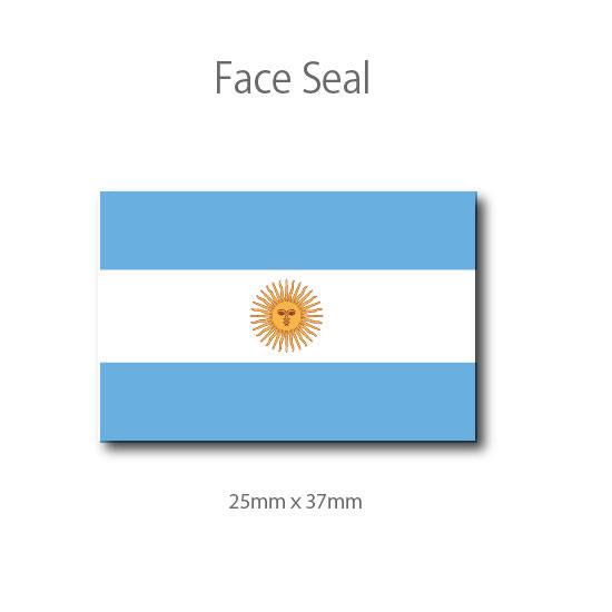 スポーツ観戦やフェス イベントに 世界の人気ブランド マスクシールにも フェイスペイントシール 流行 医療テープタイプ アルゼンチン国旗