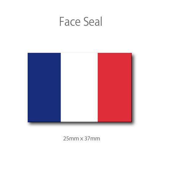 フランス国旗 100枚  フェイスペイントシール <医療テープタイプ>