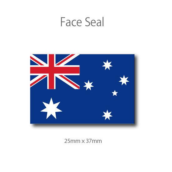 スポーツ観戦やフェス イベントに マスクシールにも 医療テープタイプ オーストラリア国旗 全品送料無料 フェイスペイントシール 公式サイト