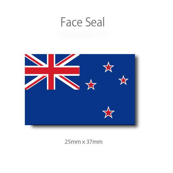 スポーツ観戦やフェス イベントに マスクシールにも いつでも送料無料 医療テープタイプ フェイスペイントシール ニュージーランド国旗 現品