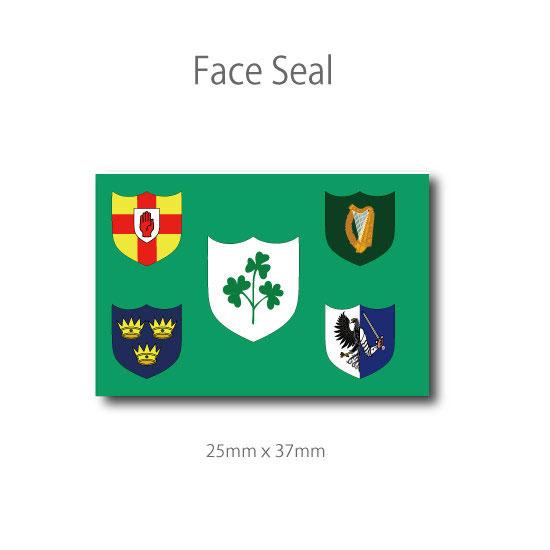 スポーツ観戦やフェス イベントに マスクシールにも ギフト アイルランド ハイクオリティ フェイスペイントシール ラグビー代表旗 医療テープタイプ
