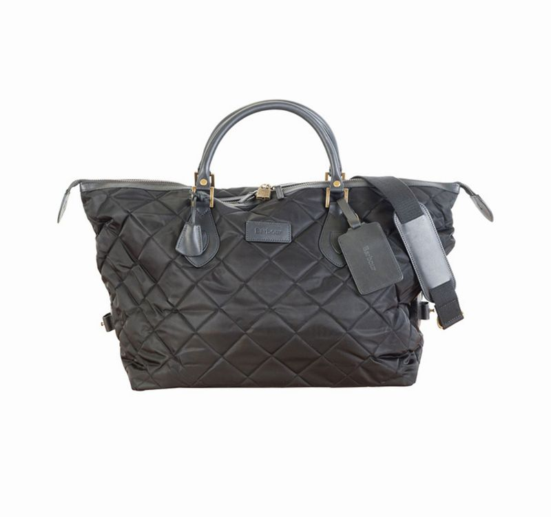 Barbour QUILTED TRAVEL EXPLORER BAG - BLACK  バッグ バブアー バーブァー UBA0167BK11 送料無料