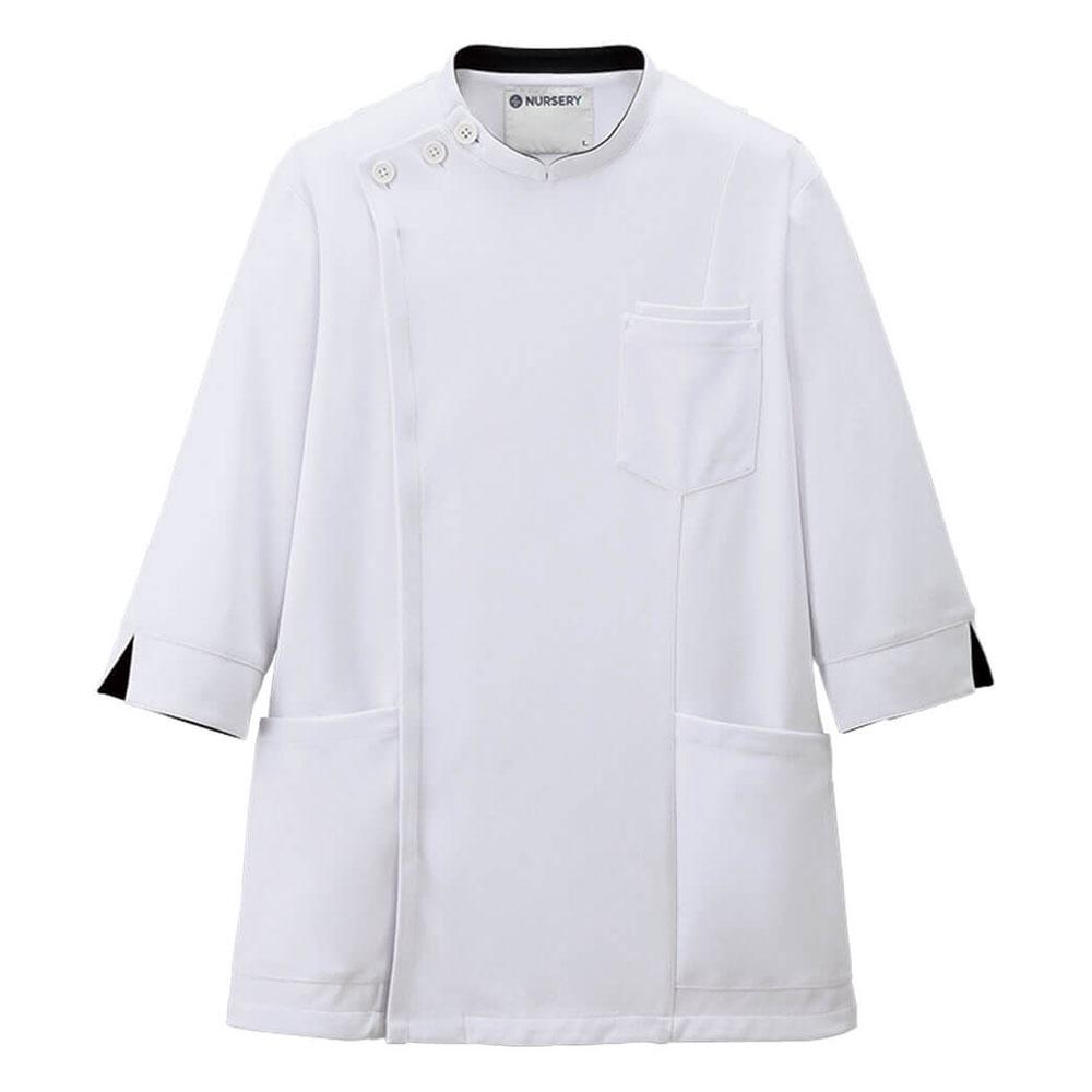 ご要望にお応えした アクティブストレッチの7分袖スクラブ 2488 アクティブストレッチ 7分袖ケーシージャケット メンズ 白衣 人気の定番 ナース 看護 医療 男性 送料無料お手入れ要らず
