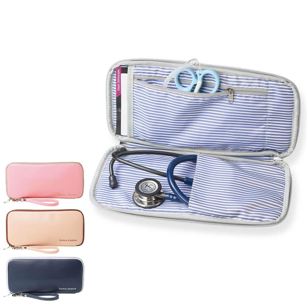 充実ポケットで収納ラクチン ハピプラがうれしい聴診器ポーチ 品質保証 最新アイテム 5096 小物も入る聴診器ポーチ ナース 小物 グッズ 聴診器 看護 医療 ナースリー ステート